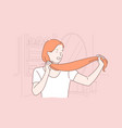 hair care hairdo beauty saloon procedure vector image vector image