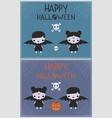 Halloween Vampire costume children p vector image