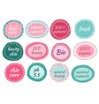 hand drawn icons for natural cosmetic vector image vector image