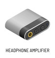 headphone amplifier audio device music record vector image vector image