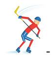 hockey player cartoon vector image