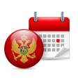 Icon of National Day in Montenegro vector image vector image