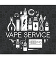 Icons set of Vape service vector image vector image