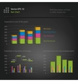 infographics bar chart vector image vector image