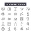 information security line icons signs set vector image vector image