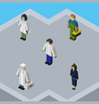 isometric human set of plumber businesswoman vector image vector image