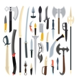 Knifes weapon Toy train vector image vector image