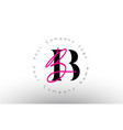 letters bb signature with minimal design simple vector image vector image