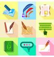 memoir icons set cartoon style vector image vector image