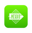 mexico icon green vector image