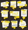 modern sale banners and labels modern collection vector image vector image