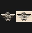 moto repair service vintage logo vector image vector image
