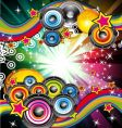 musical event background vector image vector image