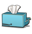 napkin box in the shape of a whale isolated on vector image vector image
