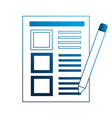 office paper document and pencil vector image