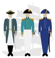 Officers of the Russian fleet-1 vector image vector image