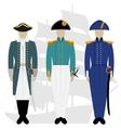 officers russian fleet-1 vector image vector image