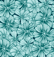 pattern texture with daisy flowers Hand-drawing vector image vector image