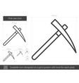 pick axe line icon