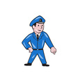 Police Officer Pointing Down Cartoon vector image vector image