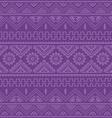 purple native american ethnic pattern vector image vector image