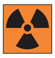 radiation hazard symbol vector image