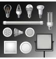 Realistic Led Lamps Set vector image vector image