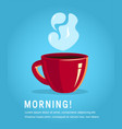 red cup coffee or black tea vector image