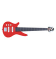 red electronic guitar icon flat isolated vector image