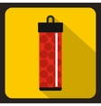 Red pack with paintball bullets icon flat style vector image vector image