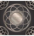 retro background with gears vector image vector image
