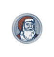 Santa Claus Father Christmas Vintage Etching vector image