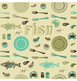 Seafood Fish Pattern vector image vector image