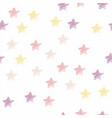 seamless star pattern pastel color vector image vector image