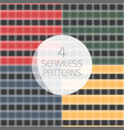 seamless tartan patterns set redyellow greenblue vector image vector image