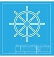 Ship wheel sign White section of icon on vector image vector image