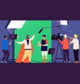 shooting movie filmmaking production cinema vector image vector image