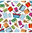 Shopping and leisure seamless background vector image vector image