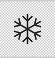 snowflake icon isolated on transparent background vector image vector image
