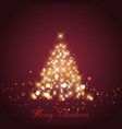 sparkle christmas tree background vector image vector image