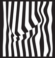 striped abstract background black and white zebra vector image vector image