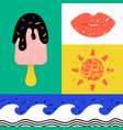 summer vacation - colorful flat design style vector image