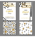 Universal Modern Stylish Cards Templates with vector image vector image