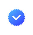 verification stamp icon vector image