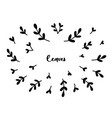 vintage collection of hand drawn tree branches vector image
