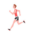 young man running wearing sports uniform active vector image vector image