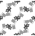 Currants seamless pattern black silhouette vector image