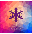 snowflake Abstract snowflake on geometric pattern vector image