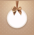 abstract vintage frame with bow and ribbon vector image vector image