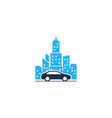 automotive town logo icon design vector image